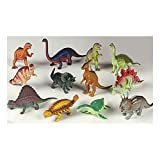 12 piece Large Assorted Dinosaurs - Toys 5-7&quot; Larger Size Dinosaur Figures