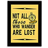 TIED RIBBONS® Inspirational Posters With Frame - Quotes Hangings For Room Walls And Office