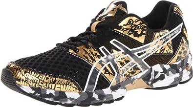 ASICS Men's Gel Noosa Tri 8 GR Running Shoe,Black/Gold Metallic/White,10.5 M US