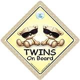 Twins On Board - Se�al para coche (