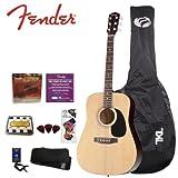 Fender Starcaster Natural Acoustic Guitar Kit (091-6000-021) - Includes