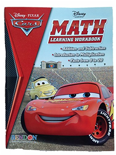 The World of Cars Math Learning Workbook