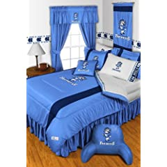 North Carolina Tar Heels 6 Pc TWIN Comforter Set & Set of Two 5 Pc Valance Drape... by Sports Coverage