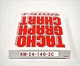 小芝記録紙 ( KOSHIBA ) チャート紙 【1日用】 140Km/h(赤ライン 24時間) 100枚入リ KM-24-140-2C