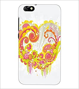 PrintDhaba Heart D-5313 Back Case Cover for HUAWEI HONOR 4X (Multi-Coloured)