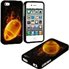 myLife Hot Football Series (2 Piece Snap On) Hardshell Plates Case for the iPhone 4/4S (4G) 4th Generation Touch Phone (Clip Fitted Front and Back Solid Cover Case + Rubberized Tough Armor Skin)