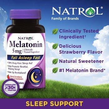 Natrol? Mélatonine 5 mg, 250 Dissoudre rapide