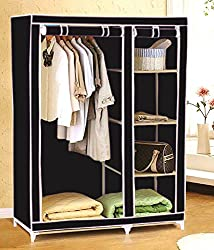 Everything Imported 3.5 feet Folding Wardrobe Cupboard Almirah Foldable Storage Rack Collapsible Cabinet