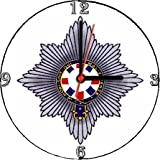 BRITISH ARMY COLDSTREAM GUARDS REGIMENTAL INSIGNIA BADGE CREST * A CD/DVD (12 cm diameter) SIZED NOVELTY CD QUARTZ WALL CLOCK WITH FREE BATTERY AND DESK STAND * CAN BE PERSONALISED