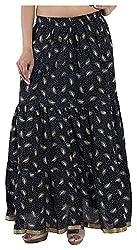 Magnus Women's Long Skirt (SKT452, Black, M)
