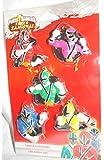 2013 Power Rangers Samurai Set of 5 One Sided Mini Christmas Ornaments - Red Green Blue P