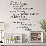 DaGou 22.5-Inches Vinyl Wall Art Free, Free combination sentence,The art of wall stickers.