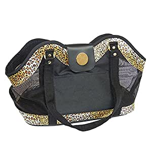 Amazon.com : New York Dog Leopard Open Pet Tote : Pet Carrier : Pet