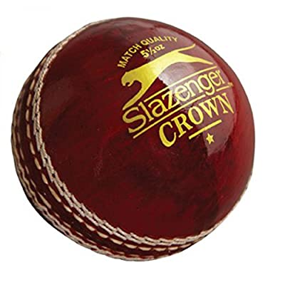 Slazenger V 360 Pro Kashmir willow Cricket Bat (Size SH) & Crown Cricket Ball