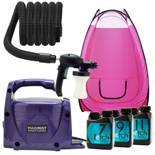 Amethyst Maxi Mist Xl Hvlp Spray Tanning Machine Fetch Dha Pink Tan Tent Kit 2A front-771886