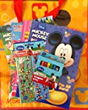 Gift Set 4 Mickey Mouse Jumbo Coloring Activity Books, Crayons, Stickers, Lg Mickey Mouse Tote 7pc Bundle