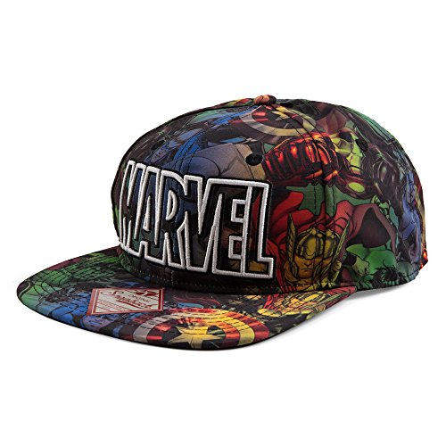 Marvel All Over Sublimation Mens Berretto da Baseball