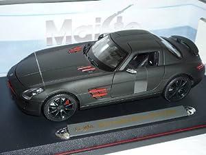 Mercedes-Benz Sls Gullwing AMG Matt Schwarz Coupe 1/18 Maisto Modellauto Modell Auto