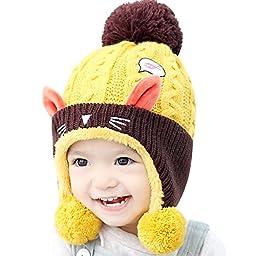 IMLECK Toddler Girl Winter Animal modelling Small Fish Cat Knit Hat