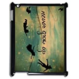 Exquisite Customized Disney Cartoons Peter Pan Cute Kind Ipad 2,3,4 Case Cover ,Plastic Shell Hard Back Cases For Fans At CBRL007