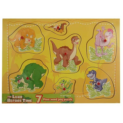 Cheap Land Before Time Land Before Time 7 Piece Wood Peg Puzzle [Yellow] (B004FJL5M4)