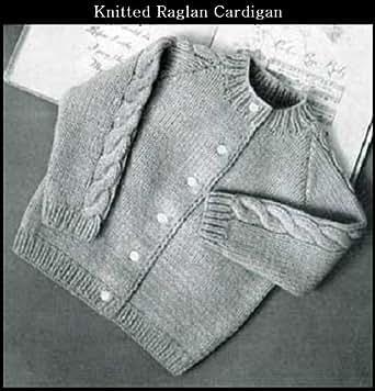Knitting Pattern Baby Raglan Sweater : Amazon.com: KNITTED RAGLAN CARDIGAN SWEATER for BABY/TODDLER - VINTAGE KNITTI...