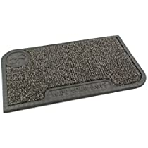 Clean Machine Wipe Your Paws 18-Inch by 30-Inch Doormat Cinder