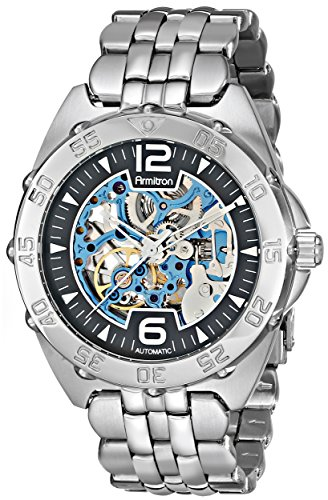 armitron-herren-20-4768bisv-automatic-silver-tone-and-blue-accented-dress-uhr