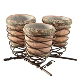 Randy Ouzts Triple Wire Bird's Nests and Pots