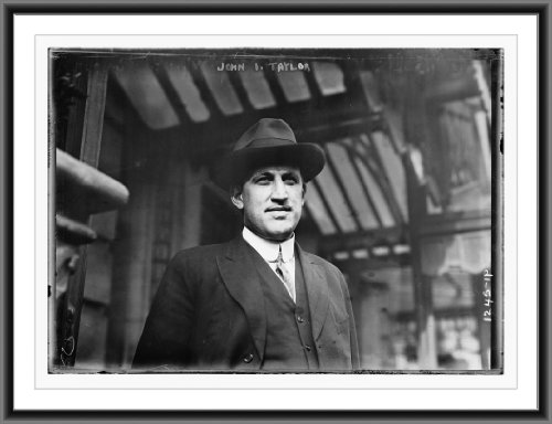 Newswire Photo (XL): John I. Taylor, 1911 Red Sox owner, at League Meetings, Waldort Astoria Hotel, NYC (base