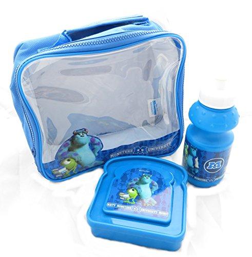 Disney Pixar Monsters University 3 pièces sac à lunch ensemble