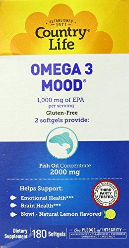 Country Life Omega 3 Mood 2000mg, 180-Softgels
