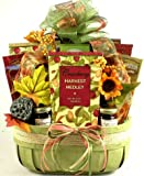 Fall Harvest Gourmet | Thanksgiving Gift Basket of Caramels, Cookies, and Snacks