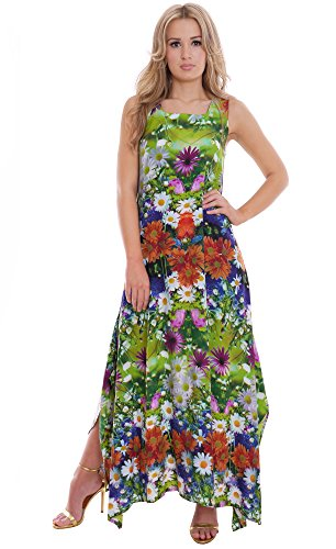 Womens Summer Maxi Dress Holiday Party Meadow Flower By MontyQ