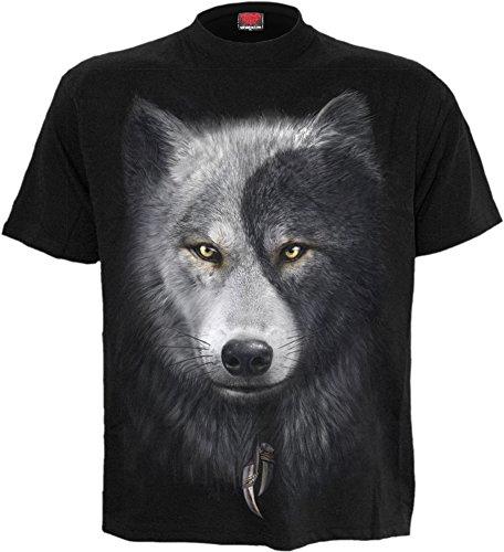 Spiral Wolf Chi T-Maglietta Western indiano gotico