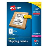 Avery Internet Shipping Labels for Laser Printers with TrueBlock Technology, 5.5 x 8.5 Inches, White, Box of 200  (5126)