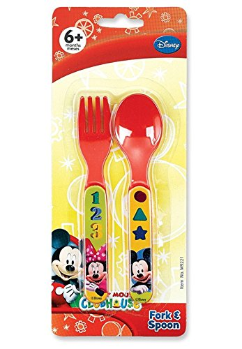 Disney Mickey Mouse Clubhouse Fork & Spoon Set - 1