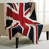 Union Jack British Flag Throw Blanket