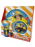 Fireman Sam Tumbler, Bowl and platter Dinnerware Set