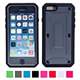 IPhone 6 Case (4.7 Inch), Afranker Heavy Duty Belt Clip Holster Case Full-body Rugged Hybrid Protective Cover with Built-in Screen Protector With Dual Layer And Impact Resistant Bumper Grey