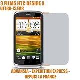 3 Films protection ecran telephone HTC DESIRE X