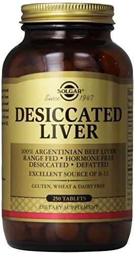 Solgar Desiccated Liver Tablets, 250 Count