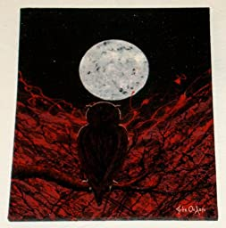 Modern Abstract Art ~ Owl Painting ~ Titled: KOUKOUVAGIA (AND THE DISTANT FRIEND)