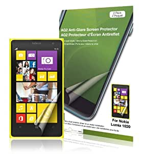 Green Onions Supply RT-SPNL102002 AG2-2013 Anti-Glare Screen Protector for Nokia Lumia 1020 Smartphone - 2 Pack - Retail Packaging