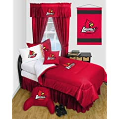 Louisville Cardinals QUEEN Size 12 Pc Bedding Set - Locker Room - (Comforter, 2... by Sports Coverage