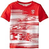 PUMA Little Boys' Ferrari Graphic T-Shirt-Boy, Rosso Corsa, 5