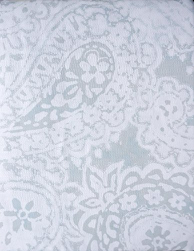 Tommy Hilfiger Fabric Shower Curtain Gray Light Blue