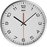 Unity Highwood - Reloj de pared silencioso, color blanco