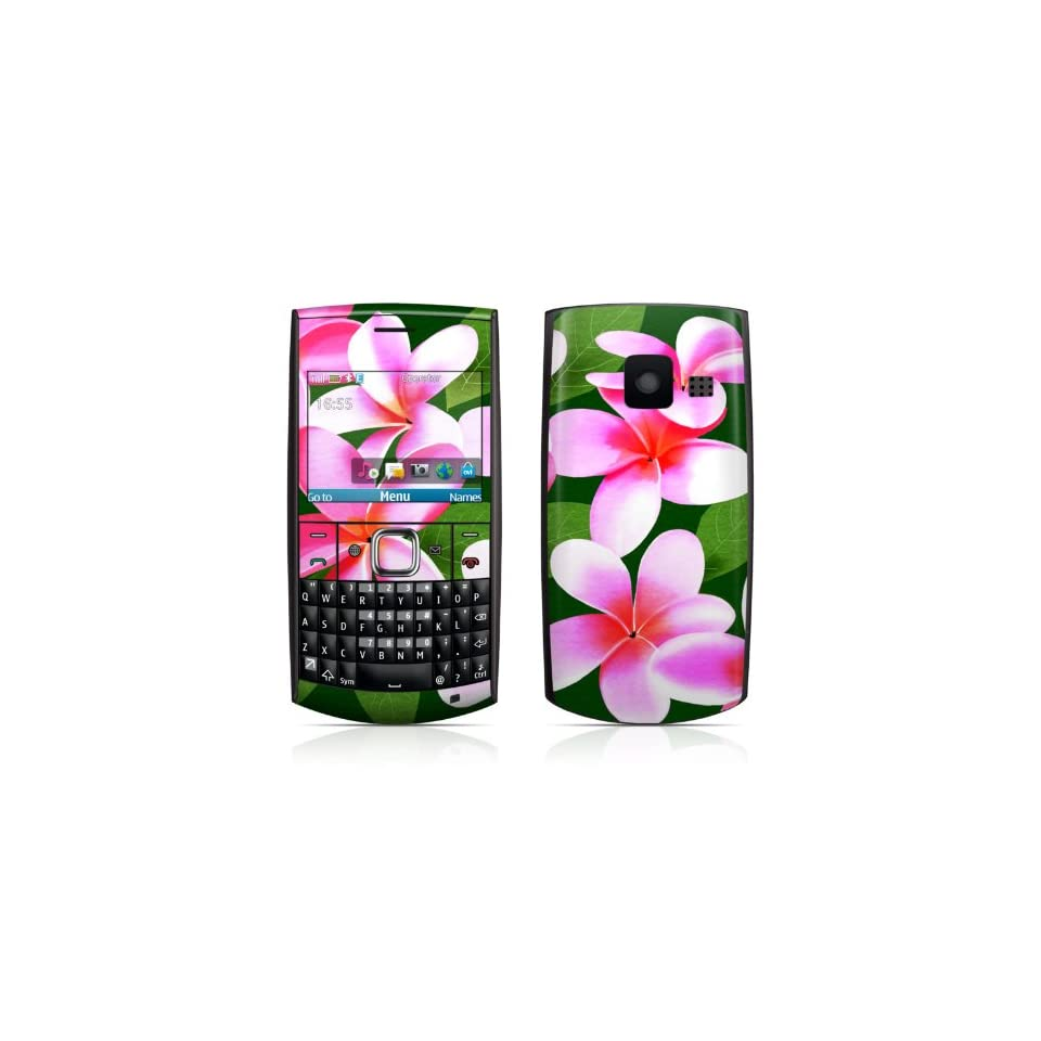 Pink Plumerias Design Protective Skin Decal Sticker for Nokia X2 01 Cell Phone