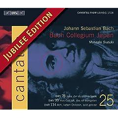 J.S. �o�b�n�F�J���^�[�^�S�WVol.25 (J.S.Bach: Cantatas Vol.25) [Import]